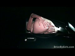 PUBLIC gangbang of gorgeous Kitty Jane through a car window