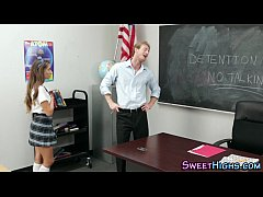 Uniform teen jizz mouth