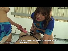 Japanese Femdom Threesome Ejaculation Management and Pussy Licking Training