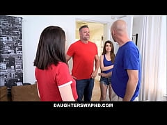 Two Hot Teen Daughters Joseline Kelly And Raylin Ann Swap Dad's For Punishment Fucking