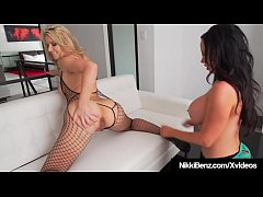 penthouse pet nikki benz gets her moist muff stuffed and tongued by hot blonde annika albrite