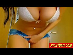 Busty Girl Rubs Her Pussy And Tits On Webcam ★ xxxTurn.com