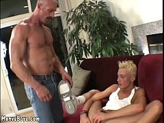 Cute twink with dyed hair gets his ass destroyed