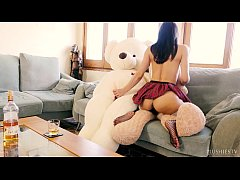 Valentina Bianco and 2 teddy bears in having hard core birthday party sex