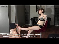 Japanese dominatrix Sherry makes man lick feet and face trample