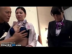 Japanese hostess threesome in hotel - Full at Elitejavhd.com