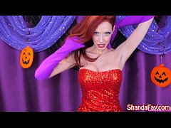 Shanda Fay as Jessica Rabbit for Slutty Halloween Solo!