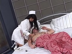 sdHorny Asian nurse babe Mika Tan with nice tits sucks and fucks a juicy dick in bed