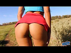 A Great Day For a Great Outdoor Ass & Cameltoe! Hottest Teen