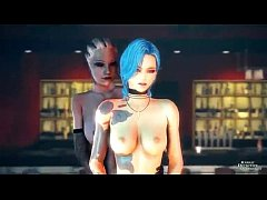 3D-(mass effect, league of legends, live is strange)-Liara Jinx and Chloe Hot Crossover