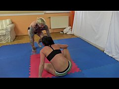 aisa vs. mr. dean - bikini mixed wrestling