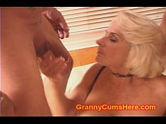My Granny SUCKS my CUM OUT
