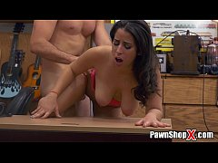 Amateur Latina with Natural Big Tits Visits Pawn Shop for Cash Money xp15670 HD