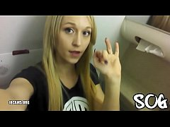 Blonde Public Masturbating Airplane Bathroom Real Amateur