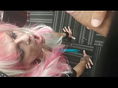 Jade sissyslut sucking cock