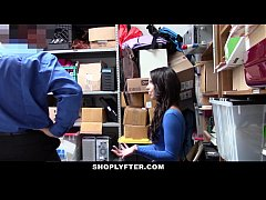 HD ShopLyfter - Brunette Teen Strip Searched & Fucked