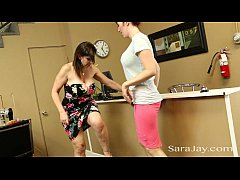 HD Horny Seamstress Licks Up Sara Jay