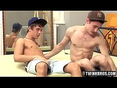 Big dick twinks hard fuck with cumshot