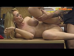Busty babe sells her tiara and pounded