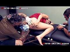 amina sky getting an extreme asshole tattoo
