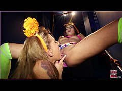 GIRLS GONE WILD - Young Lesbian Raver Girls Katya & Avery Can't Resist Each Other