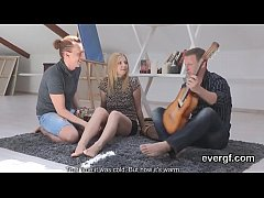 Dirt poor bf lets hot pal to shag his exgf for cash