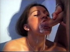 Bukkake Teen Gags on Cum