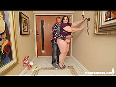 Beautiful BBW Becki Butterfly Fucks Ramons Monster Cock