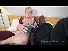 Mature Grandma with Big Tits lets a Black Cock cum Inside her Creampie Video