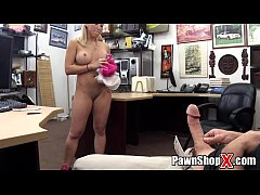 Cute Blonde w\/ Thick Legs   Fat Ass Does Strip Dance & More at PawnShopX.com