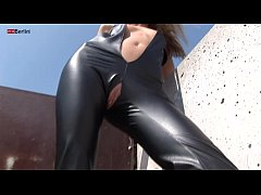Eroberlin 18yo Cassandra leather teeny outdoor blond skinny Fotze jung slot