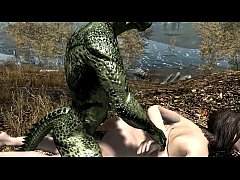 Argonian gets laid with Lydia Part 1