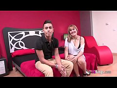 Ultimate big boobed MILF Nuria brings a her stepsister's son to a porn scene