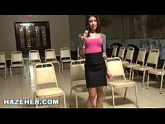 HAZEHER - Sexy Latin Teen Interview And Audition With Lesbian Interaction