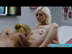 Elsa Jean licking her physicians pussy