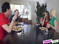 DaughterDeal - Fathers Deal Vacation Weekend - Elsa Dream And Liza Rowe