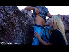 Sexy Blonde Deepthroat Big Dick Devils Kos on the Mountain Closeup