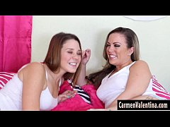 cute coed claire heart eats out carmen valentina