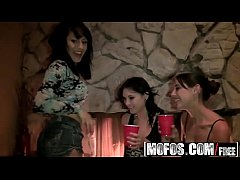 Mofos - Real Slut Party - Fireside Booty Shake starring  Liv Aguilera and Eleana Sin and Bella Nikol