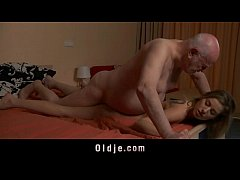 Old boss evaluates his young secretary wi ...