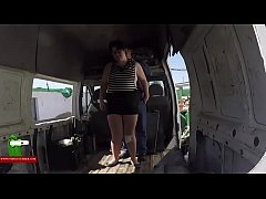 Fucking with the fat woman in the old van. SAN248