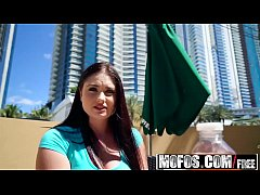 Mofos - Public Pick Ups - Busty Innocent Fucks for Cash starring Lennox Luxe and Damon Dice