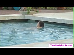 Poolside Breast Stroke with Annika Eve part-01 from Titty Attack