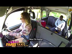 Female Fake Taxi Horny Ava Austen can't resist a big thick black cock