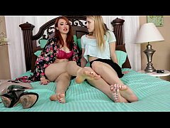 Foot Girl Takes Care of the Bosss Husband with Goddess Kendra and pet Lilly