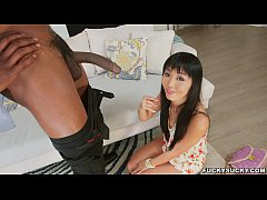 HD Shy Asian Amazed at Black Cock