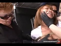 Buzzing Vibrators Send Asian Sub Over The Edge in Group Japanese BDSM