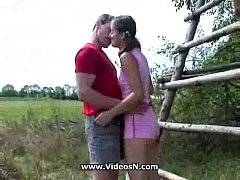 Outdoor hairy pussy anal
