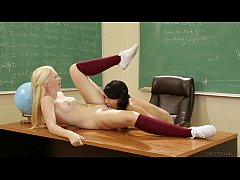 Samantha Rone and Dana Vespoli Try Anal at School