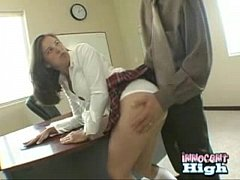 Barely legal teen gets punished after caught cheating on a test